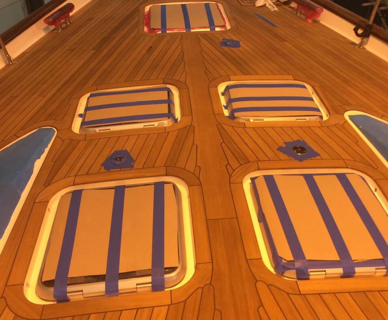 teak deck repair