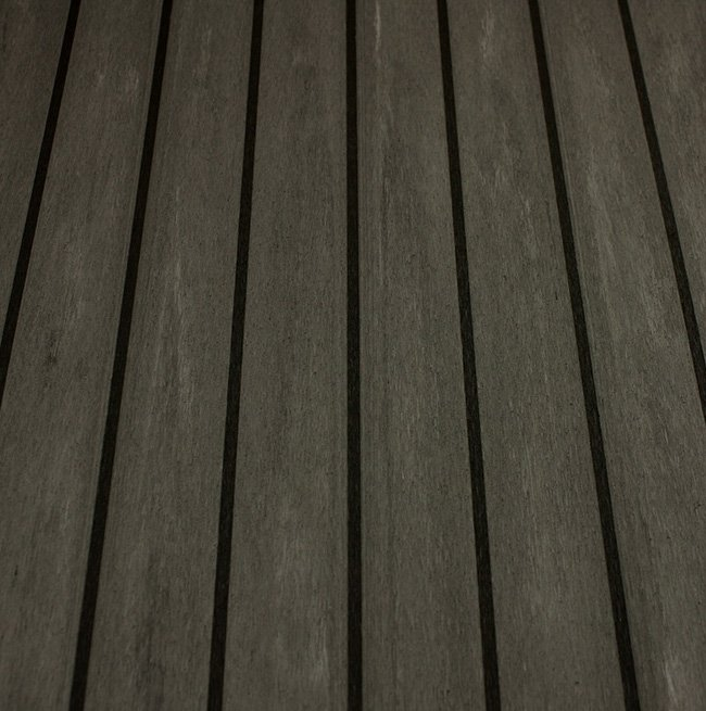 charcoal-black synthetic teak decking Vortec Marine
