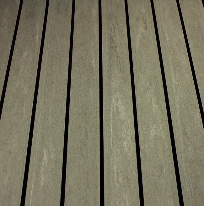 silver black synthetic teak decking Vortec Marine