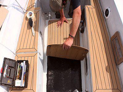 installing decking Vortec Marine