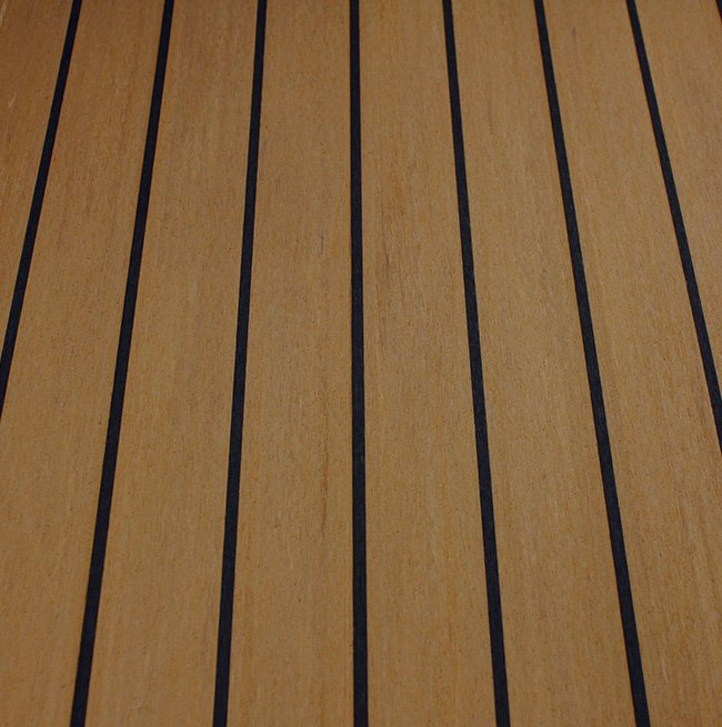 teak and black synthetic teak decking Vortec Marine