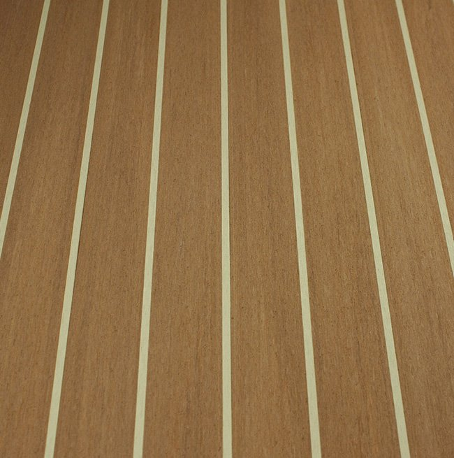 teak-cream synthetic teak decking Vortec Marine